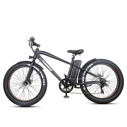 Image of NAKTO Cruiser Fat Tire Electric Bicycle side view