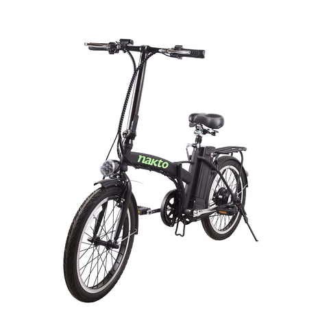 Image of NAKTO Fashion Foldable Electric Bicycle front angle view