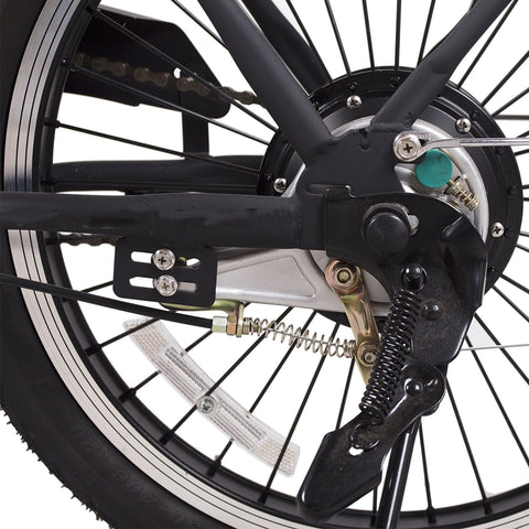 Image of NAKTO Fashion Foldable Electric Bicycle wheel close up