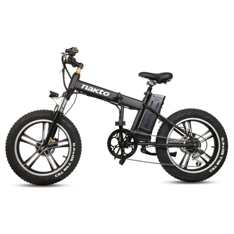 Image of NAKTO Mini Cruiser Folding Electric Bike side view