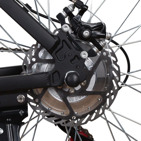 Image of NAKTO Ranger Electric Mountain Bicycle chains close up
