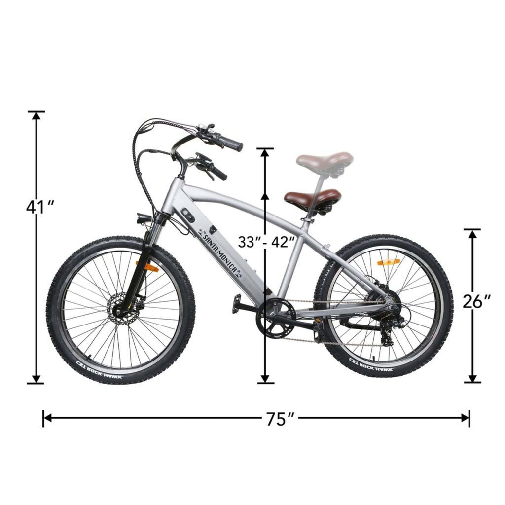 NAKTO Santa Monica Electric Bike dimensions