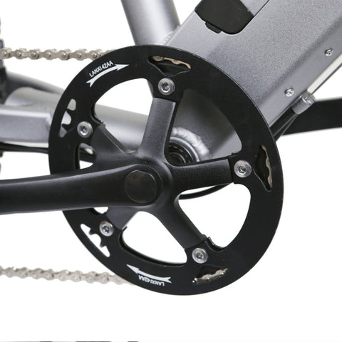 Image of NAKTO Santa Monica Electric Bike pedal rims close up