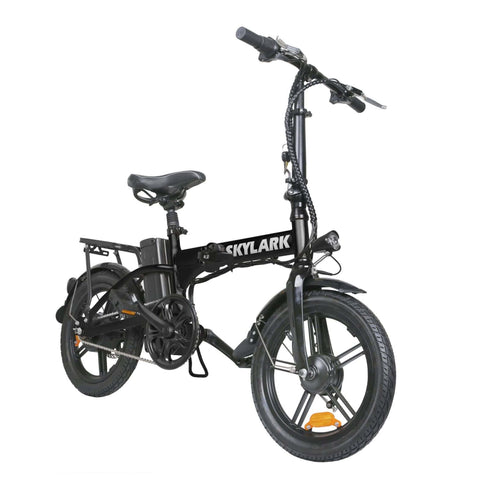 NAKTO Skylark Folding Electric Bicycle black front view