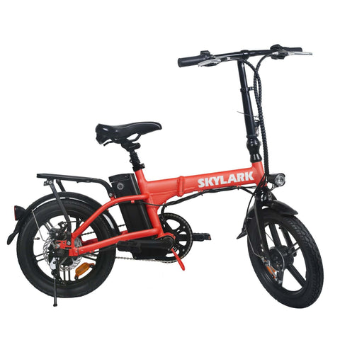 NAKTO Skylark Folding Electric Bicycle red right side
