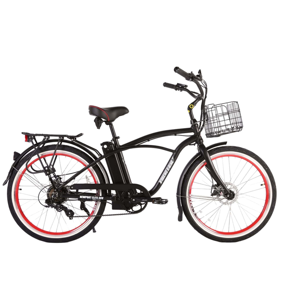 Newport Elite Max 36 Volt Electric Bike Black Side View