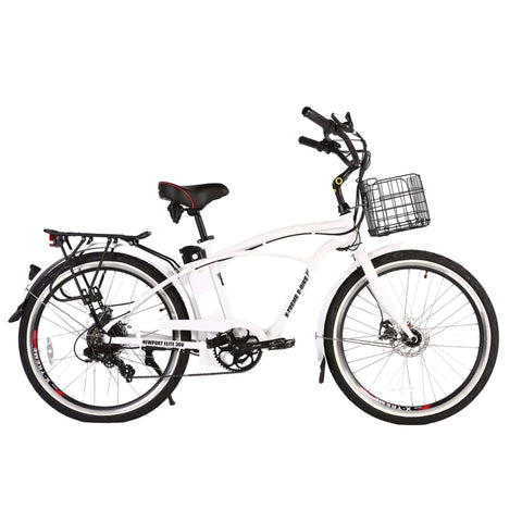 Image of Newport Elite Max 36 Volt Electric Bike White Side View
