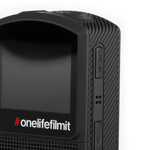 Image of OLFI One.Five Black 4K Action Camera Side View