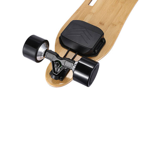 Image of Onlyone O-3 38 Electric Longboard with Wireless Remote Back View Front Wheels