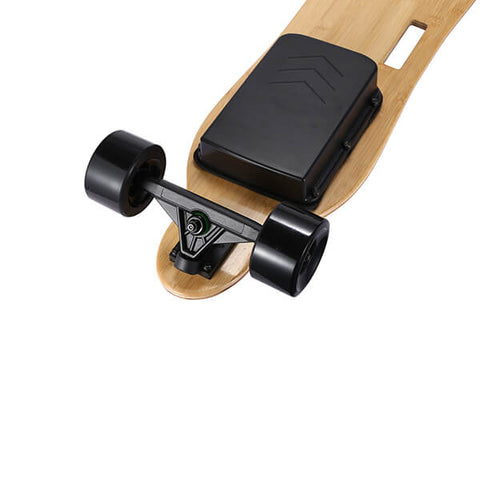 Image of Onlyone O-3 38 Electric Longboard with Wireless Remote Back View Rear Wheels