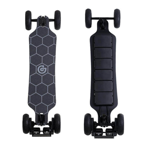 Ownboard Bamboo AT Electric Skateboard top and bottom of deck