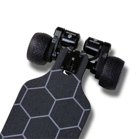 Ownboard Bamboo AT Electric Skateboard riot drive train close up