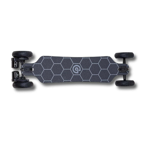 Ownboard Bamboo AT Electric Skateboard birds eye view