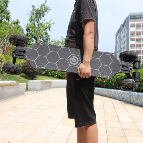 "Ownboard Bamboo AT (39"") being held"