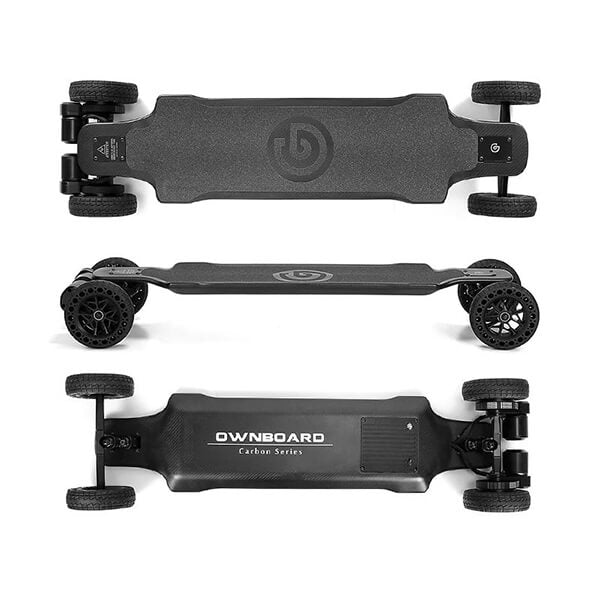 Ownboard Carbon AT Electric Longboard Top Side Back View