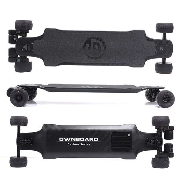 Ownboard Carbon AT Electric Longboard With 120 mm Cloudwheels