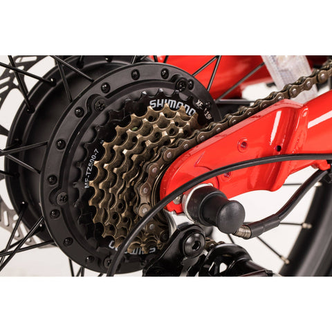 Image of Qualisports Dolphin Electric Bike Spokes View