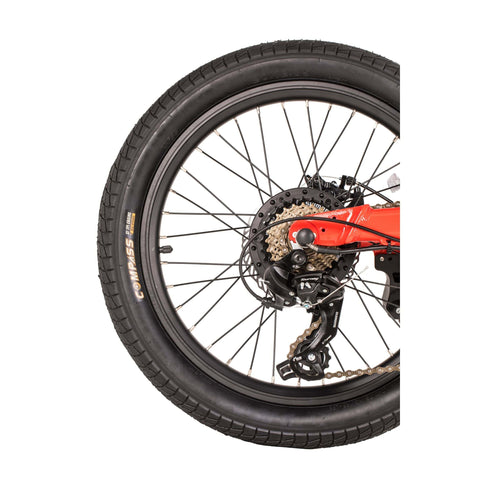 Image of Qualisports Dolphin Electric Bike Wheel View