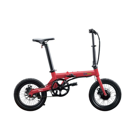 Image of Qualisports Nemo Electric Bike Red Side View