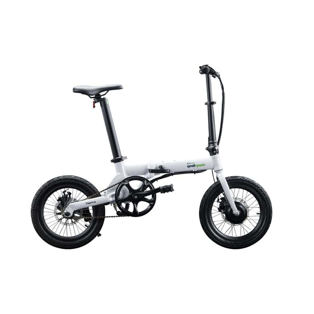 Qualisports Nemo Electric Bike White Side View