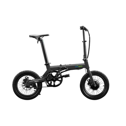 Image of Qualisports Nemo Electric Bike Black Side View