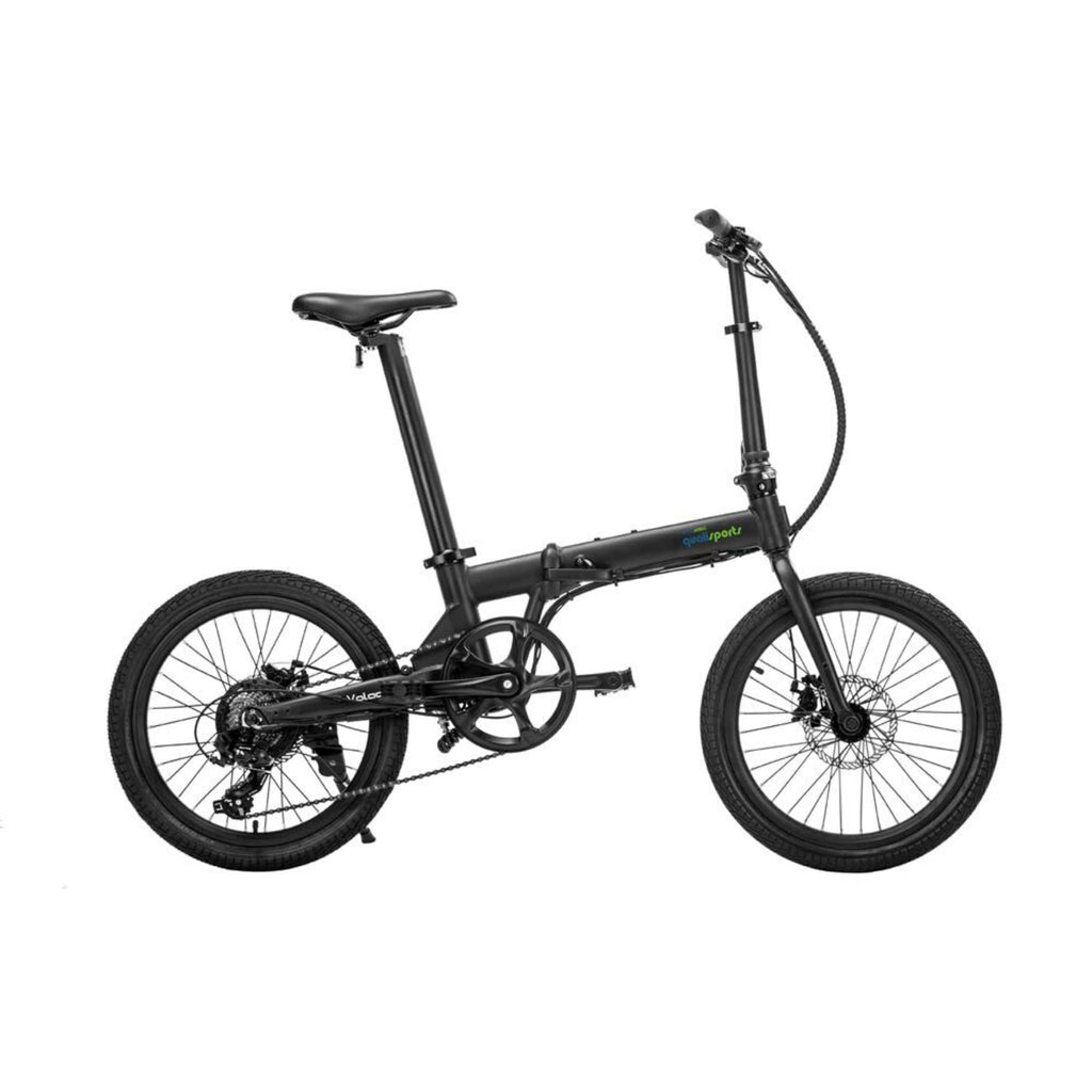 Qualisports Volador Electric Bike Black Side View