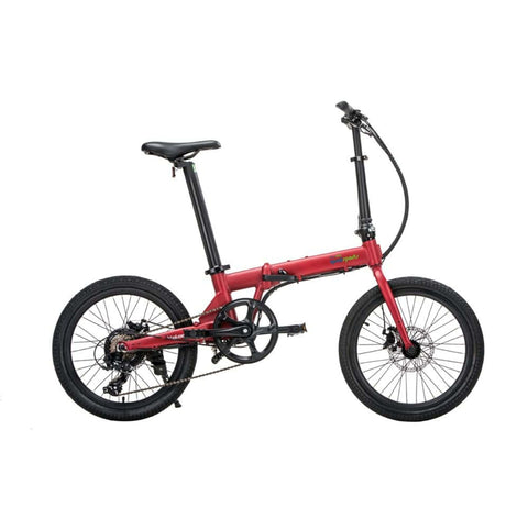 Image of Qualisports Volador Electric Bike Red Side View