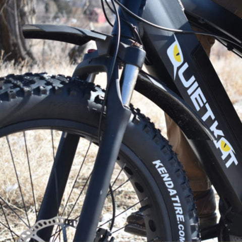 Image of Quietkat Bike Fenders close up