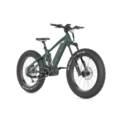Image of Quietkat Ridgerunner 2021 Electric Bike green front