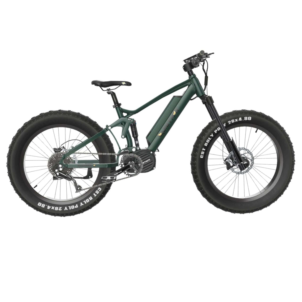 Quietkat Ridgerunner 2021 Electric Bike green side angle
