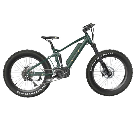 Image of Quietkat Ridgerunner 2021 Electric Bike green side angle
