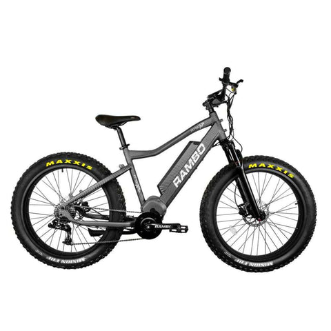 Image of Rambo Nomad Electric Bike grey side