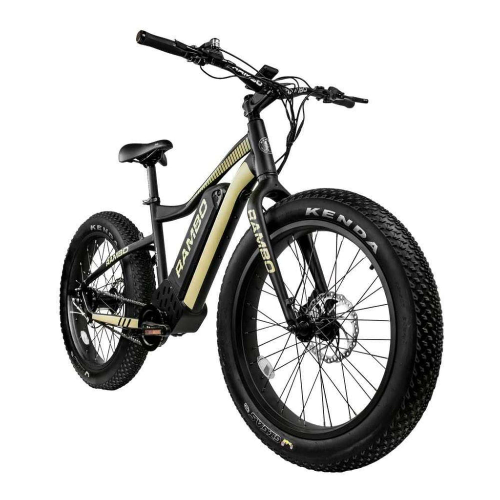 Rambo Open Box Ryder Electric Bike front. angle