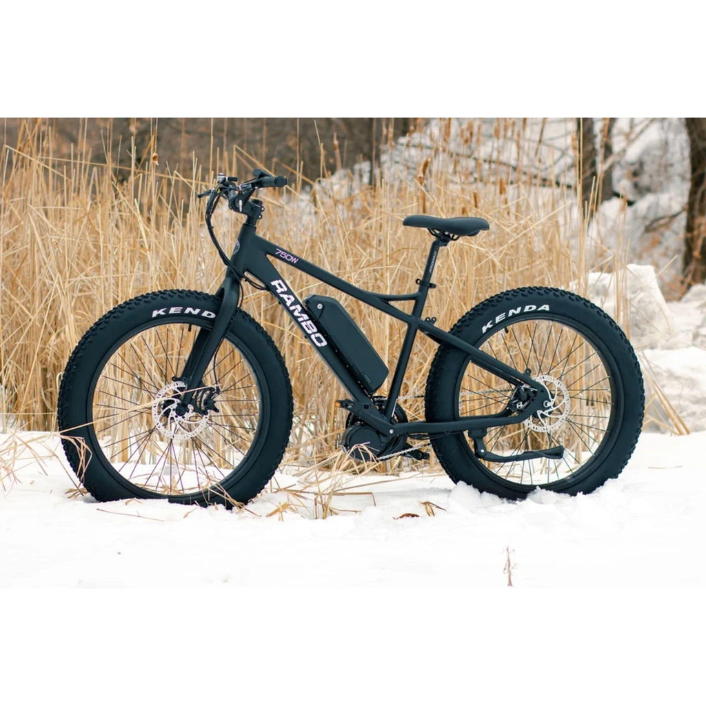 Rambo Savage Electric Bike snow