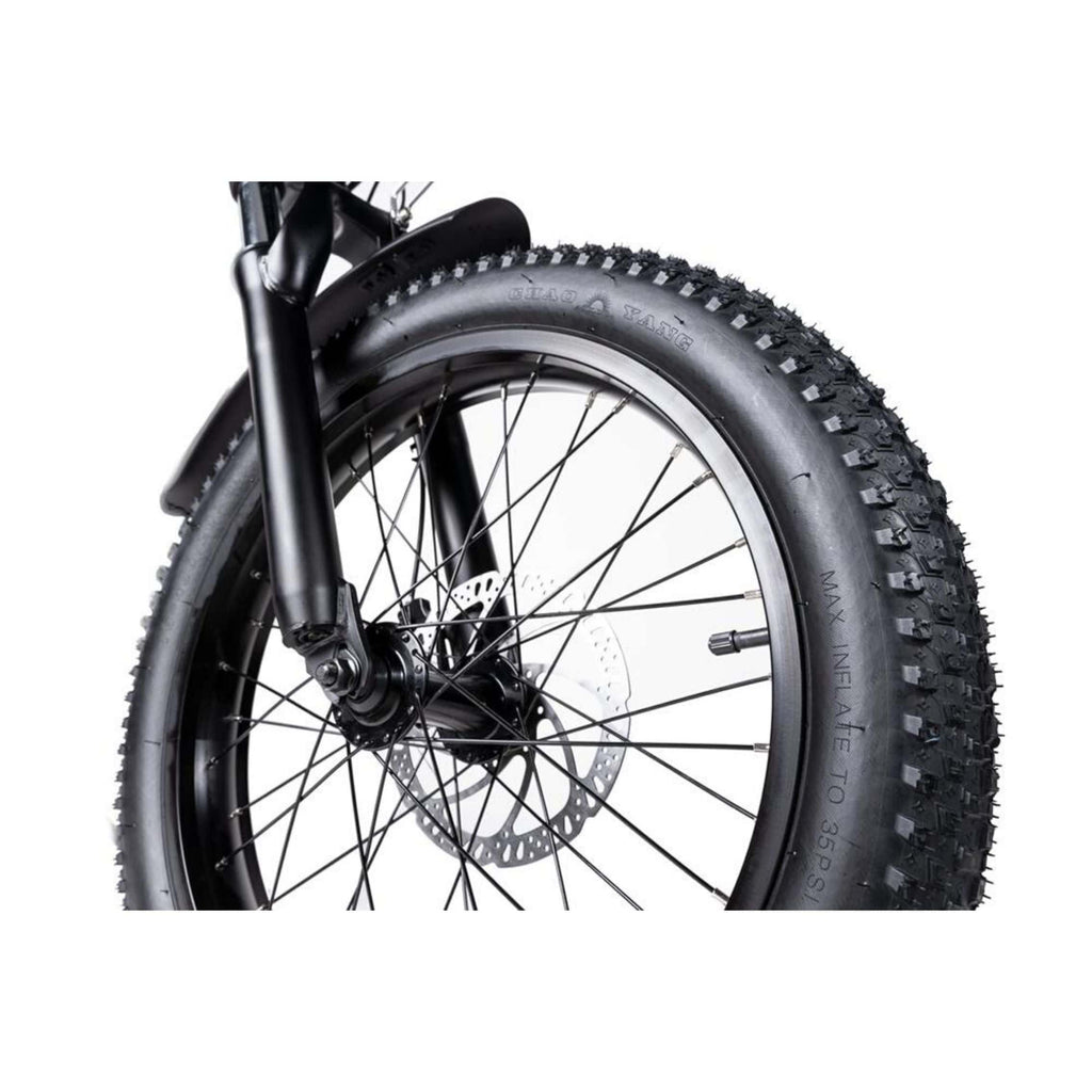 Rattan LF 500W Electric Bike tyre close up