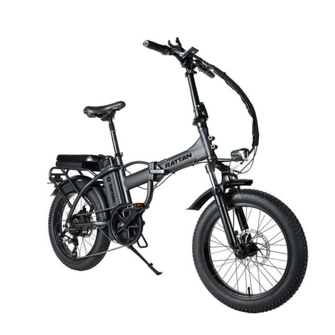 Image of Rattan LM 500W Electric Bike Black Side View