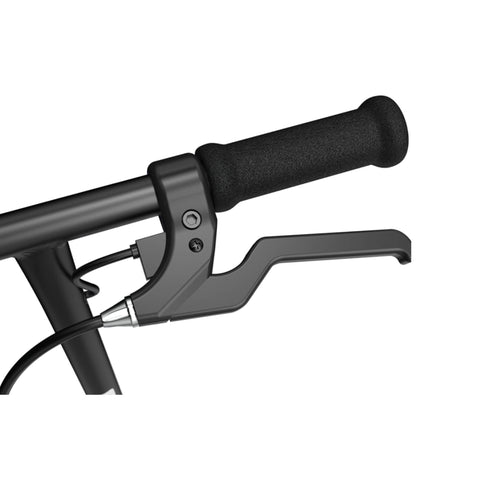 Image of Razor Black Label E100 Electric Scooter Side Angle Handle Bar with Brakes