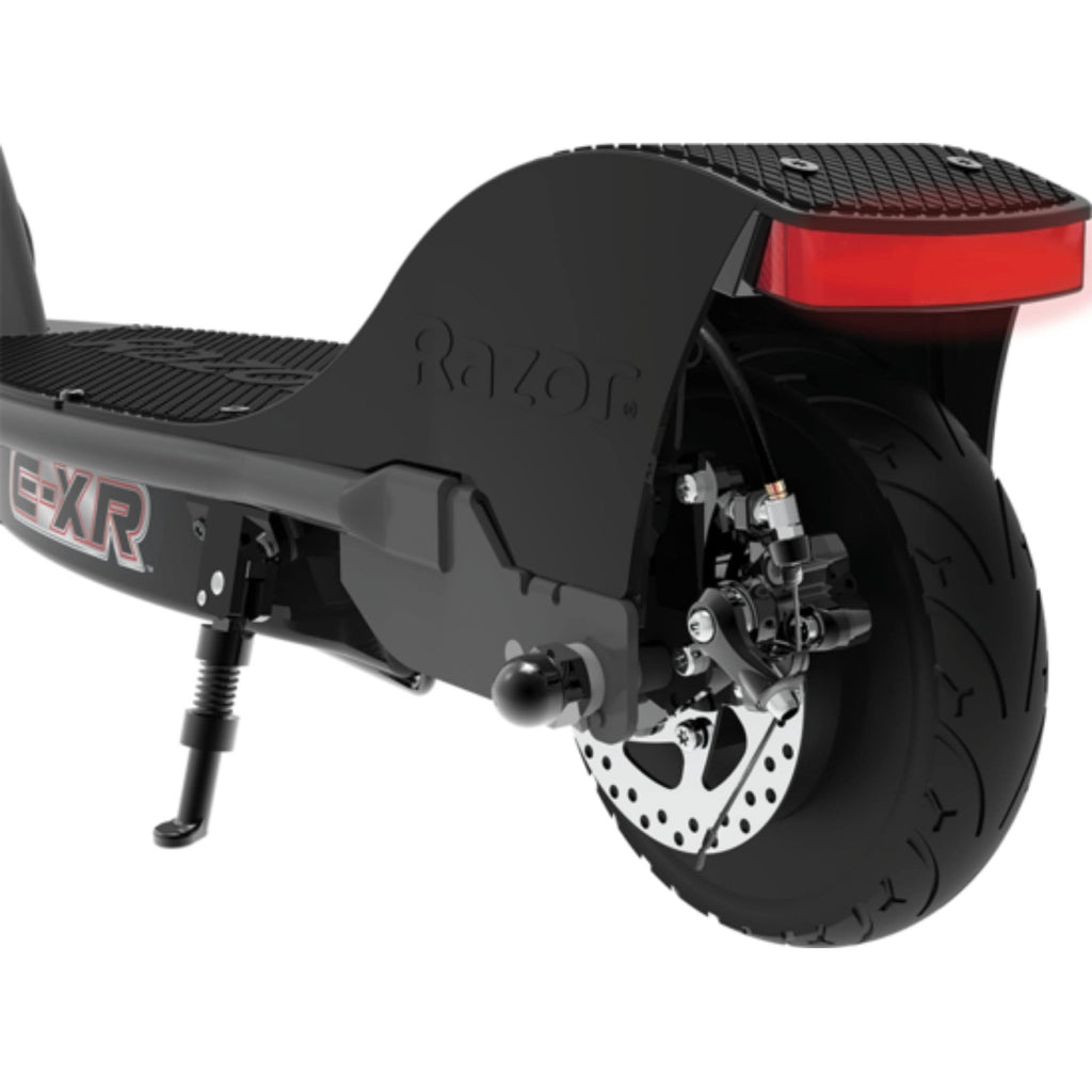 Razor E-XR Electric Scooter rear wheel view