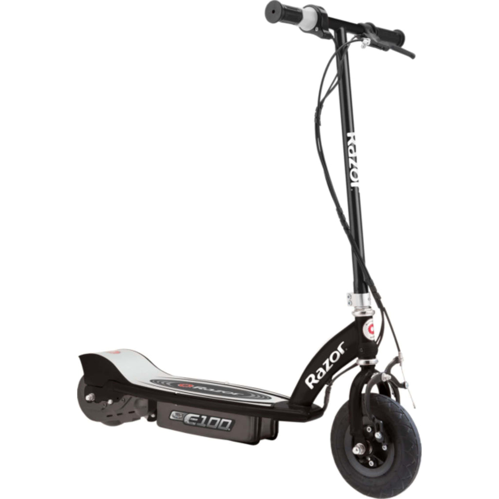 Razor E100 Electric Scooter black side view