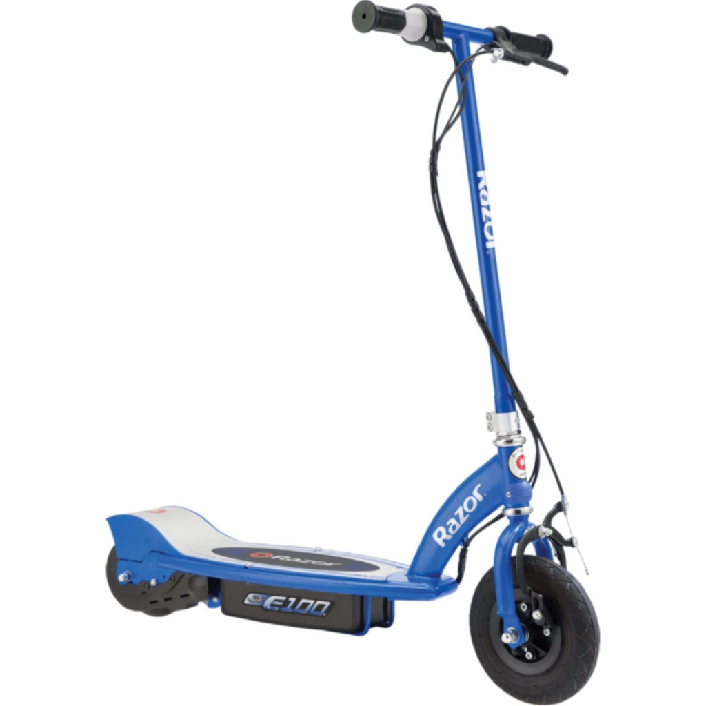Razor E100 Electric Scooter blue side view