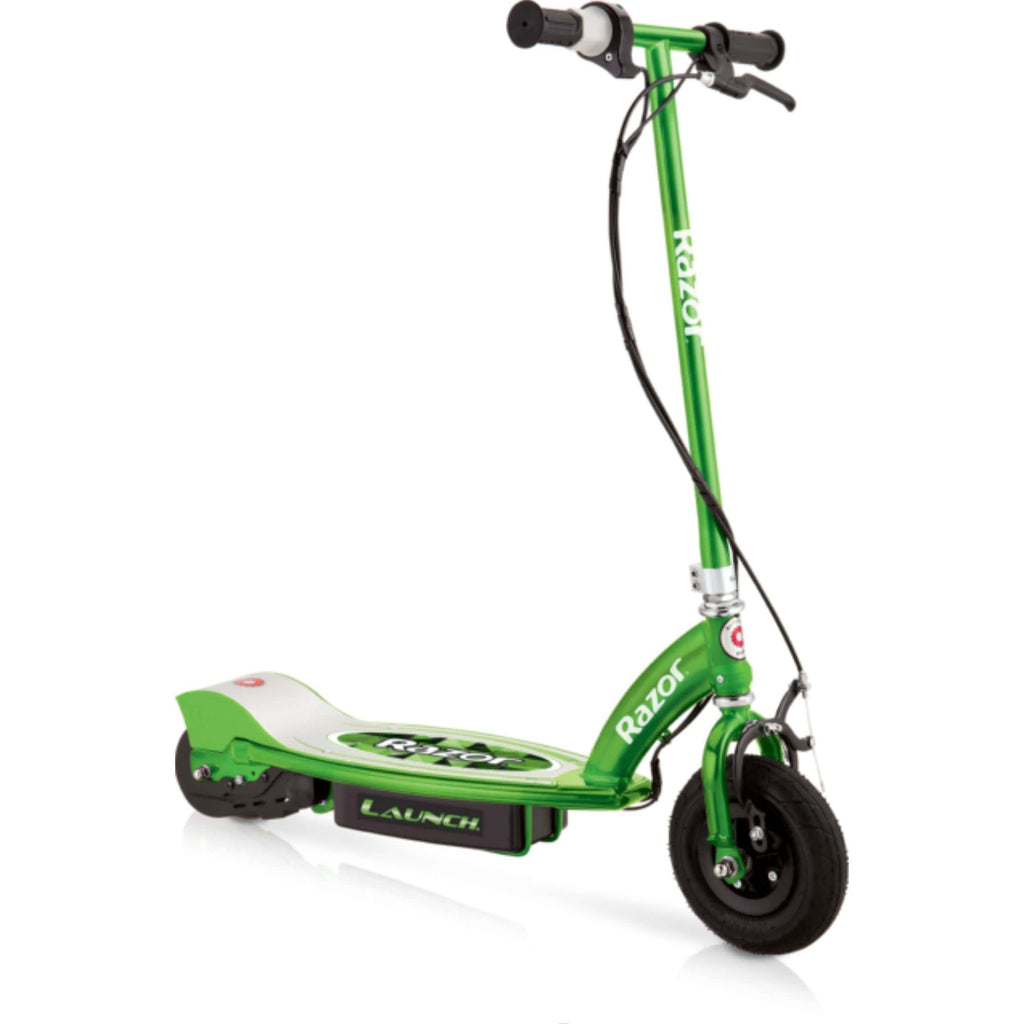Razor E100 Electric Scooter green side view