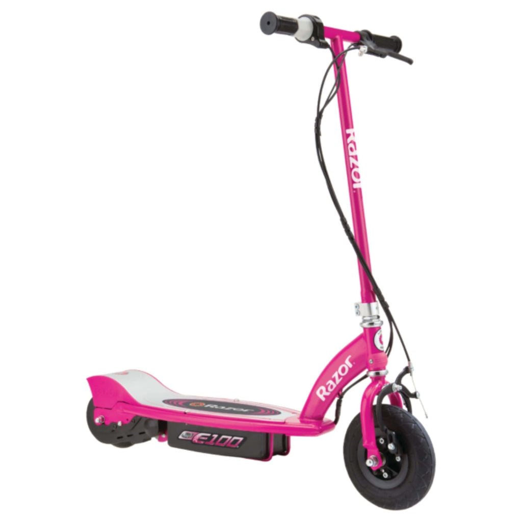 Razor E100 Electric Scooter light pink side view