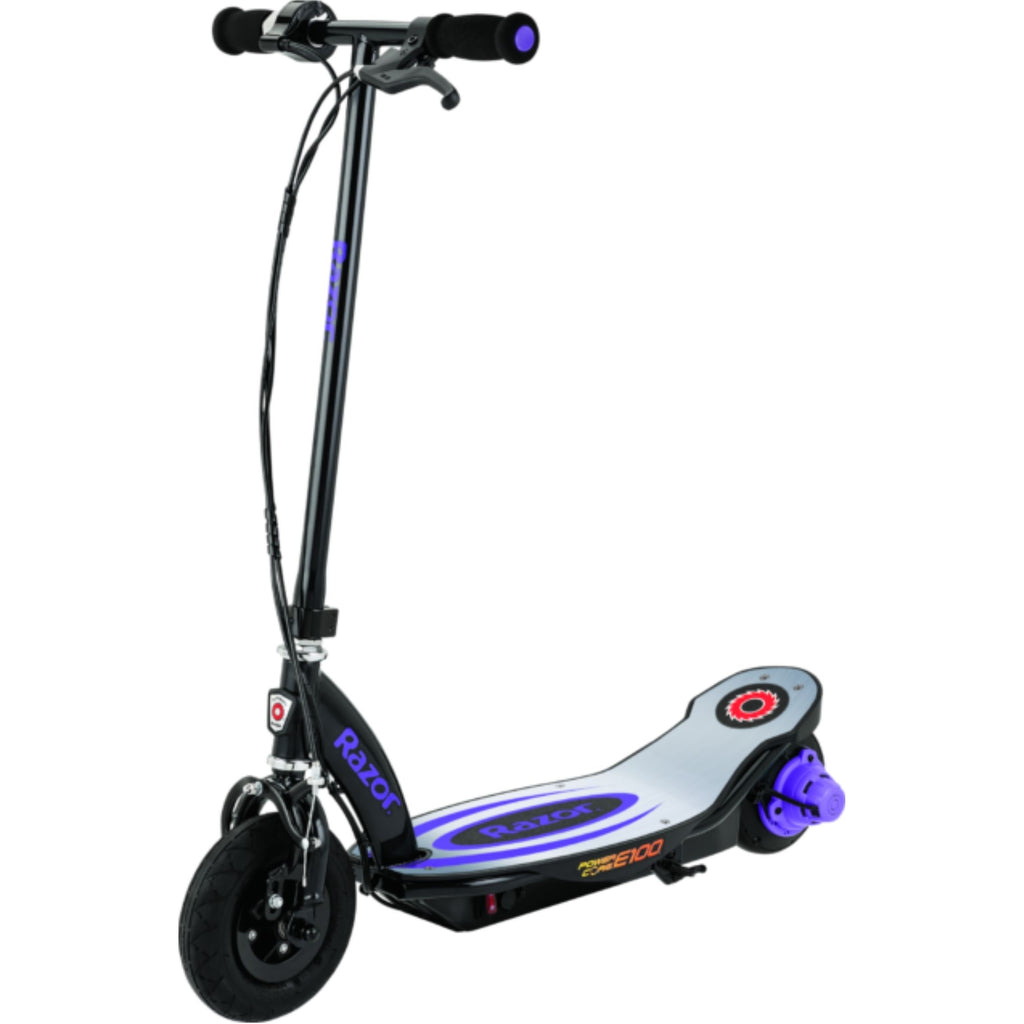 Razor E100 Power Core Aluminum Deck Electric Scooter purple side