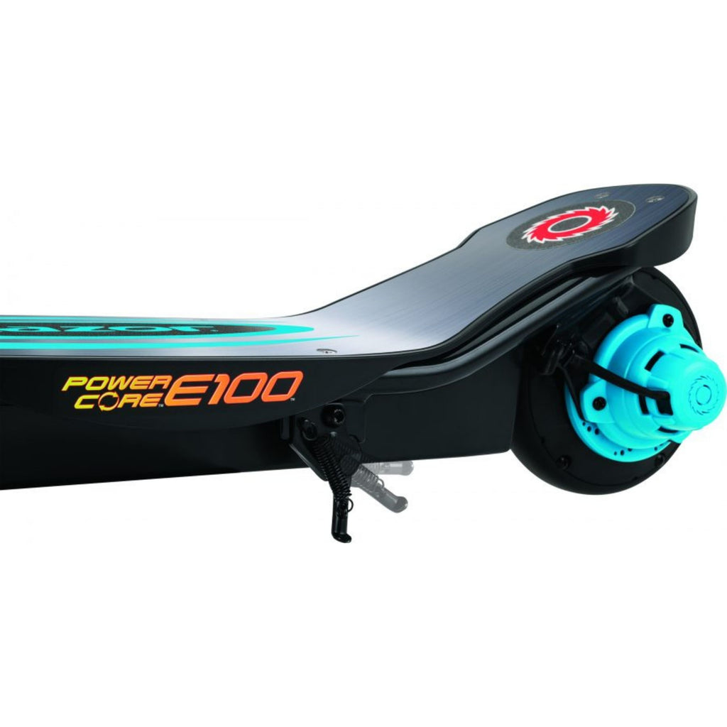 Razor E100 Power Core Aluminum Deck Electric Scooter rear side