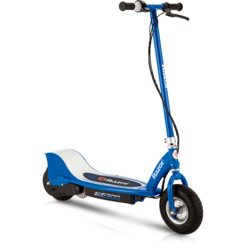 Razor E300 Electric Scooter blue side view