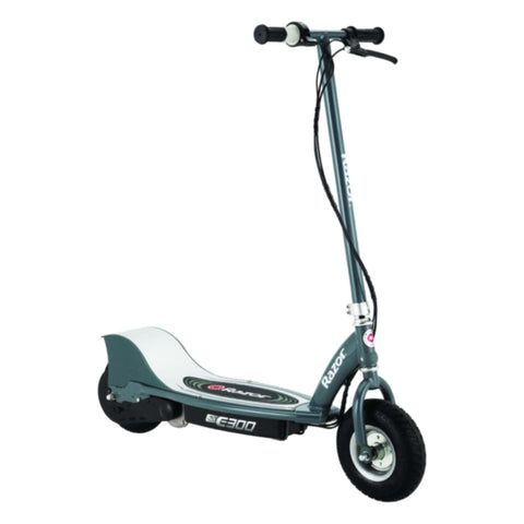 Razor E300 Electric Scooter silver side view
