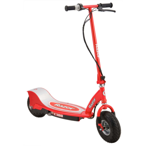 Image of Razor E300 Electric Scooter red side view