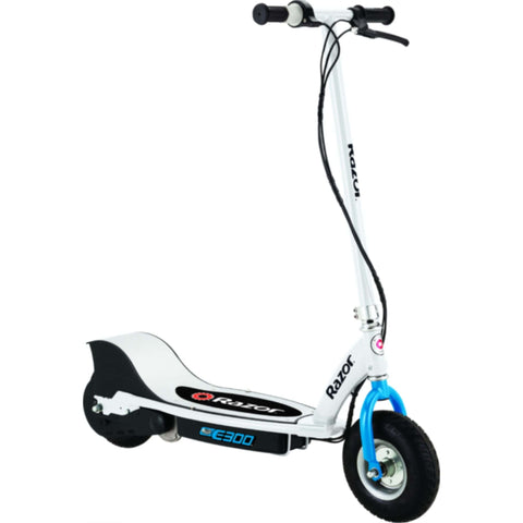 Razor E300 Electric Scooter WHITE SIDE VIEW