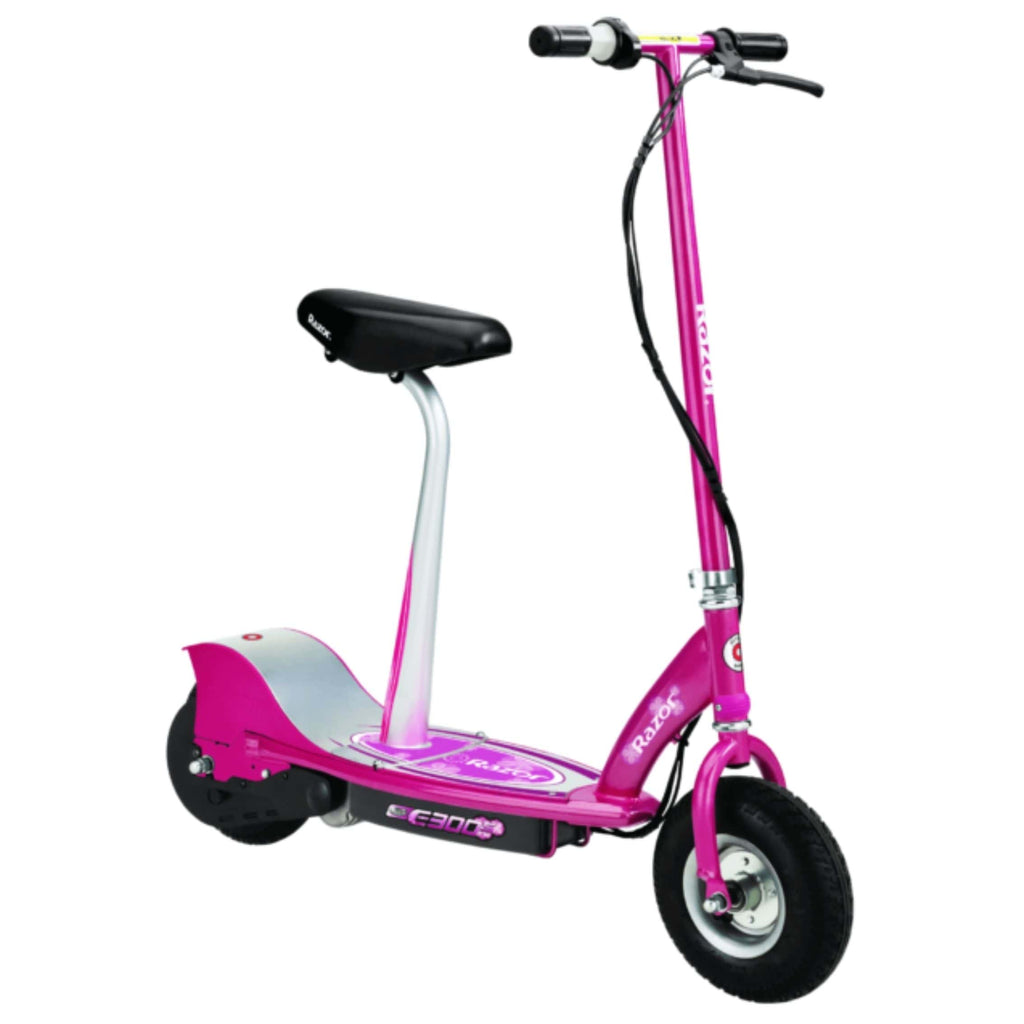 Razor E300S Seated Electric Scooter pink side view