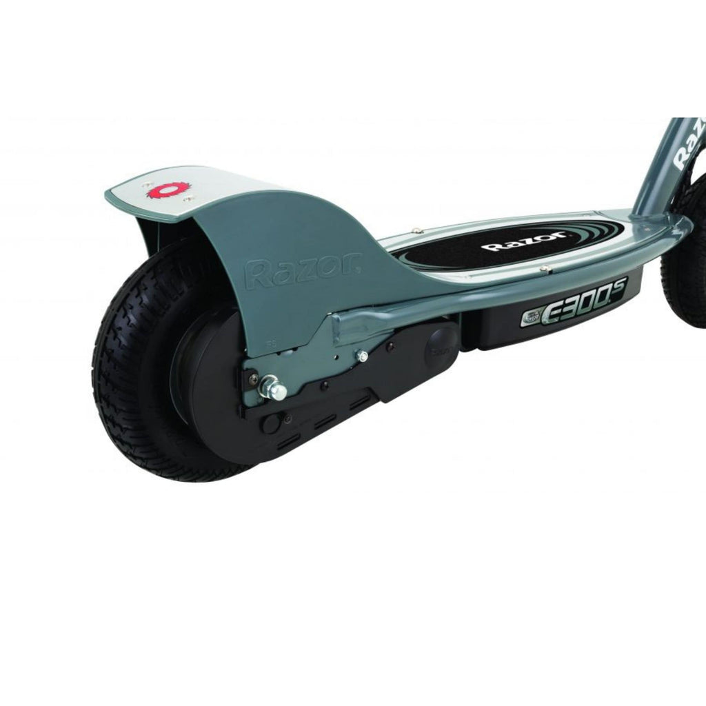 Razor E300S Seated Electric Scooter rear wheel